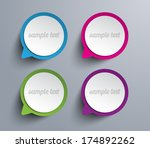 set of vector paper speech... | Shutterstock .eps vector #174892262