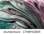 Abstract Brush Paint With...
