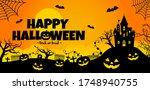 halloween silhouette vector...   Shutterstock .eps vector #1748940755