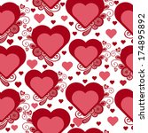 valentines seamless pattern | Shutterstock .eps vector #174895892