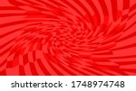 Red Twirl Wave Pattern Abstrac...