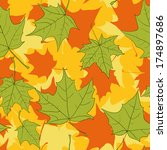 seamless pattern with leaves of ... | Shutterstock .eps vector #174897686