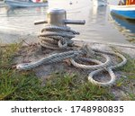 Brown Old Anchor Rope Wrapped...