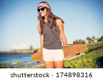 fashion lifestyle  beautiful... | Shutterstock . vector #174898316