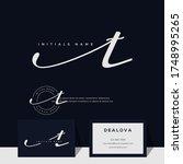 simple elegant initial... | Shutterstock .eps vector #1748995265