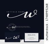 simple elegant initial... | Shutterstock .eps vector #1748995268
