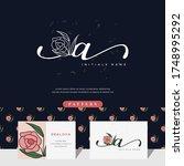 handwriting letter a logo... | Shutterstock .eps vector #1748995292