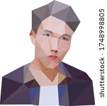 low poly person. low polygon...   Shutterstock .eps vector #1748998805