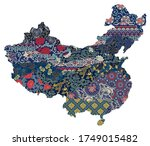 people's republic of china... | Shutterstock .eps vector #1749015482
