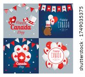 canadian icon set frames design ... | Shutterstock .eps vector #1749035375