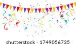 colorful celebration background ... | Shutterstock .eps vector #1749056735
