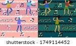 two seamless patterns with... | Shutterstock .eps vector #1749114452