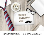 happy holiday fathers day... | Shutterstock .eps vector #1749123212