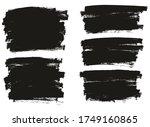 flat paint brush thin full... | Shutterstock .eps vector #1749160865