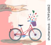 bicycle loves you concept ... | Shutterstock . vector #174916862