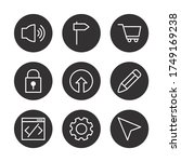 padlock and user interface icon ...