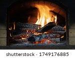 Burning Firewood In Chimney...