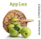 Ripe Green Apples With Leaves...