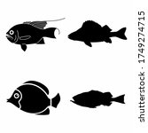 sea perch fish icon isolated on ...