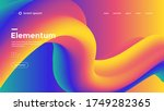 liquid wave backgrounds for... | Shutterstock .eps vector #1749282365