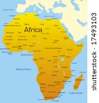 abstract map of africa continent | Shutterstock . vector #17493103