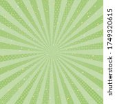 green radial background with... | Shutterstock .eps vector #1749320615