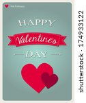 valentine's day card with two... | Shutterstock .eps vector #174933122