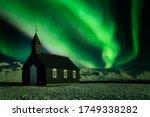 The Night Sky Of Bright Green...
