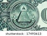 pyramid on one dollar bill macro | Shutterstock . vector #17493613