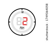 the 2 minute icon isolated on...