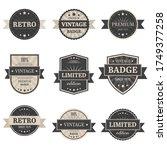 vintage labels vector design... | Shutterstock .eps vector #1749377258