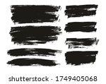 flat paint brush thin full... | Shutterstock .eps vector #1749405068