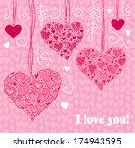 valentine's day background ... | Shutterstock .eps vector #174943595