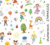 seamless vector patttern with... | Shutterstock .eps vector #1749441152