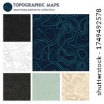 topographic maps. awesome...   Shutterstock .eps vector #1749492578
