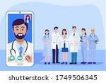 digital health concept ... | Shutterstock .eps vector #1749506345