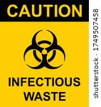 caution infectious waste sign.... | Shutterstock .eps vector #1749507458
