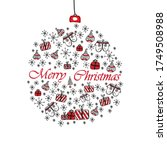 merry christmas and happy new... | Shutterstock .eps vector #1749508988