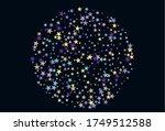 colorful stars confetti. vector ... | Shutterstock .eps vector #1749512588