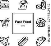 icon set. junk food. bad...