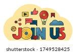 join us banner. team work....   Shutterstock .eps vector #1749528425