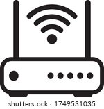 wifi router icon in trendy... | Shutterstock .eps vector #1749531035