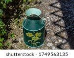 Green Metallic Flower Vase On A ...