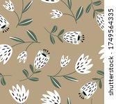 seamless floral pattern based...   Shutterstock .eps vector #1749564335