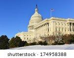 Stock photo us capitol building in winter washington dc usa 174958388