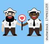 illustration of two police... | Shutterstock .eps vector #1749611255
