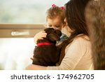beautiful portrait of a young... | Shutterstock . vector #174962705
