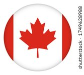 flag of canada round icon ... | Shutterstock .eps vector #1749628988