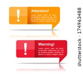 attention and warning banners ...