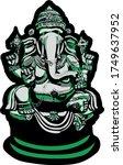 complex vector art of the... | Shutterstock .eps vector #1749637952